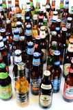 Large Group of Beer Bottles Stock Photo