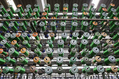 Large group of bobbin thread cones Stock Image