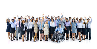 Large Group of Business People Celebrating Royalty Free Stock Photography