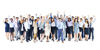 Large Group of Business People Celebrating Royalty Free Stock Image