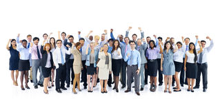 Large Group of Business People Celebrating Royalty Free Stock Images