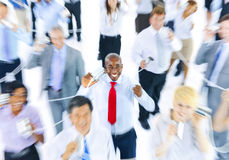 Large Group of Business People Communication Stock Photo