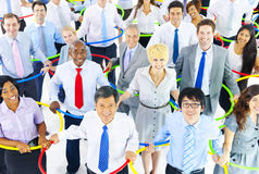 Large Group of Business People Connection Stock Photos