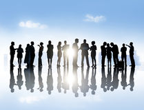 Large Group of Business People Discussing Together Royalty Free Stock Image