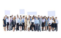Large Group Business People Holding Board Concept Stock Photography