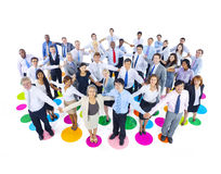 Large Group of Business People Holding Hand Royalty Free Stock Image