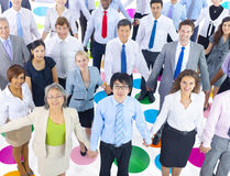 Large Group of Business People Holding Hand Stock Photos