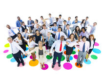 Large Group of Business People Holding Hands.  Royalty Free Stock Image