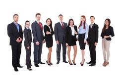 Large group of business people Stock Images