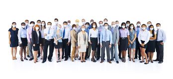 Large Group of Business People Keeping Silence Stock Images