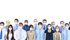 Large Group Business People Keeping Silence Concept Stock Photography