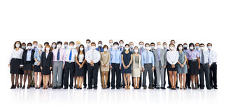 Large Group of Business People Keeping Silence Concept Royalty Free Stock Images