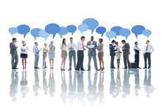 Large Group of Business People Meeting Stock Image