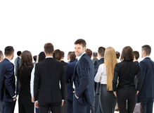 Large group of business people. Over white background Royalty Free Stock Images