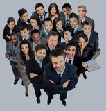Group of business people. Isolated over white background Royalty Free Stock Photos