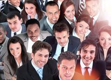 Group of business people. Isolated over white background Stock Image
