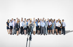 Large Group of Business People Presenting Royalty Free Stock Photo