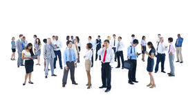 Large Group of Business People Talking Stock Image