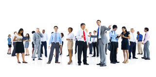 Large Group Business People Talking Discussion Concept Stock Images