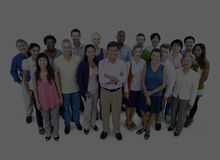 Large Group of Business People Team Community Concept Stock Images