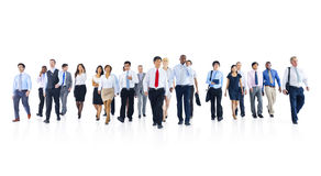 Large Group of Business People Walking Stock Images