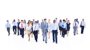 Large Group of Business People Walking Stock Photos