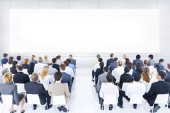 Large Group Business Presentation. Large group of business people in presentation stock photos