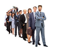 Large group of businesspeople Royalty Free Stock Image