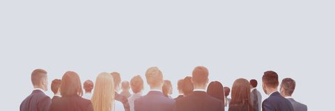 Large group of business people. Over white background Stock Photo