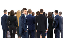 Large group of businesspeople standing back side Royalty Free Stock Photography