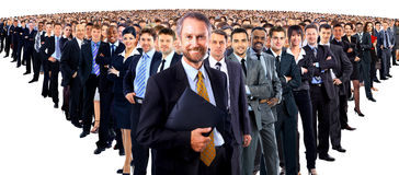 Large group of businesspeople Stock Images
