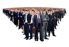 Large group of businesspeople Royalty Free Stock Photos