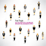 A large group of businesswomen gather  design Royalty Free Stock Images