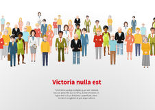 Large group of cartoon people vector background Royalty Free Stock Image
