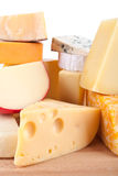 Large group of cheeses Stock Image