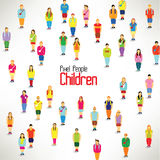 A large group of children gather  design Royalty Free Stock Photos