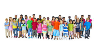 Large Group Children Joyful Cheerful Concept Royalty Free Stock Image