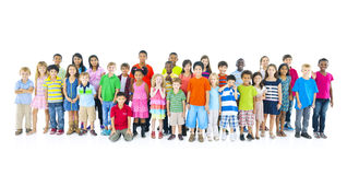 Large Group Children Joyful Cheerful Concept Royalty Free Stock Photo