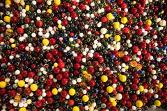 Large group of childrens marbles Royalty Free Stock Image