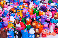 Large group of clay toys Royalty Free Stock Image