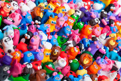 Large group of clay toys Stock Image