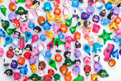 Large group of clay toys Royalty Free Stock Photos
