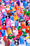 Large group of clay toys Stock Photos