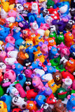 Large group of clay toys Royalty Free Stock Photography