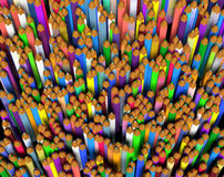 Large group of colored pencils. Stock Image
