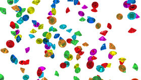 Large group of colorful Diamonds isolated Stock Images