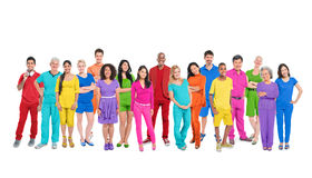 Large Group of Colorful Multi-Ethnic People Royalty Free Stock Images