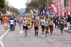 Large Group of Competitors Competing in Comrades  Marathon Royalty Free Stock Image