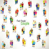 A large group of couples gather  design Royalty Free Stock Photos