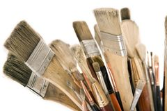 Used Paint Brushes Stock Photography